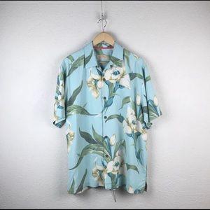 Tommy Bahama l Silk Floral Hawaiian Tiki Shirt NWT